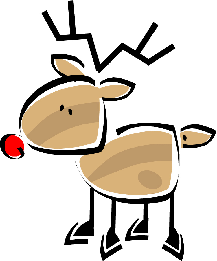 Funny Reindeer Clipart - Clipart Kid