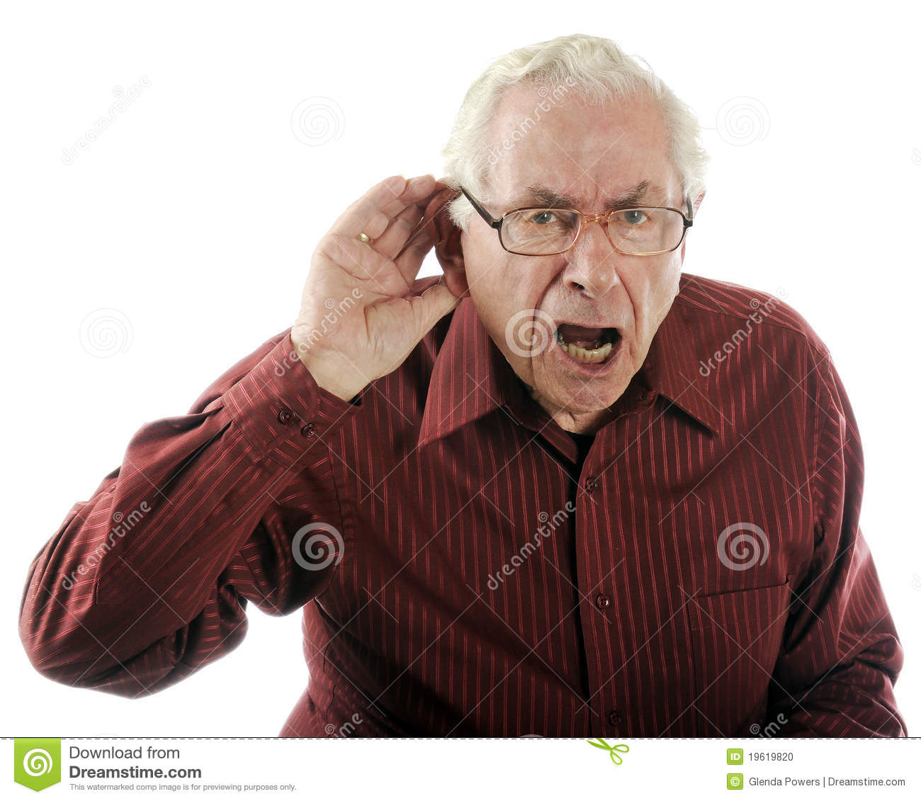 Speak Up I Can T Hear You  Stock Photo   Image  19619820
