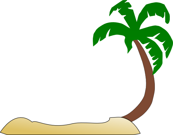 Tropical Beach Palm Tree Clip Art Svg Downloads   Art   Download