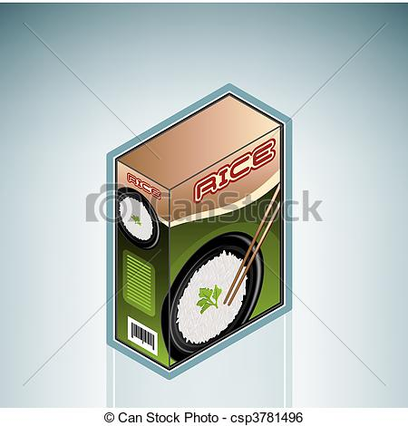 Box Of Rice  Part Of The Hospital Hardware Isometric 3d Icons Set