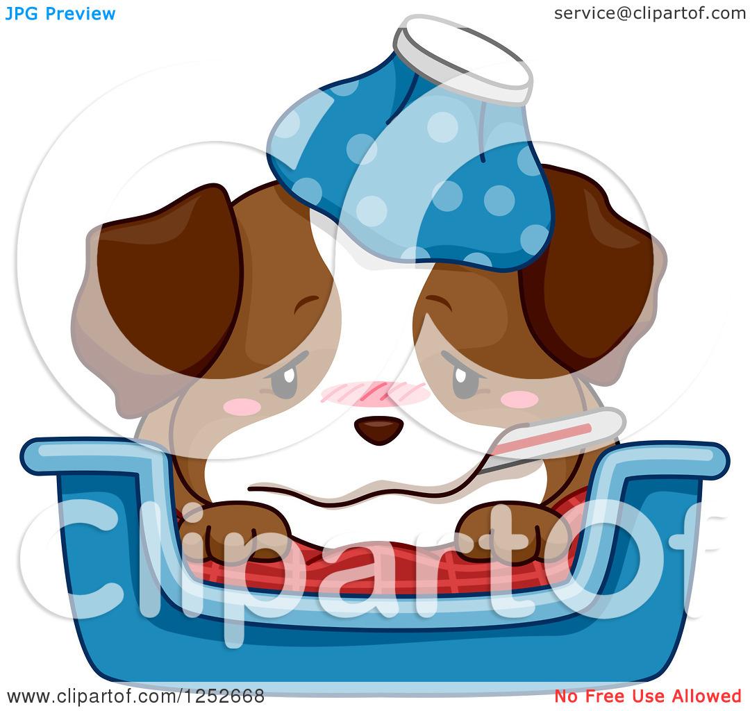 Sick dog clipart