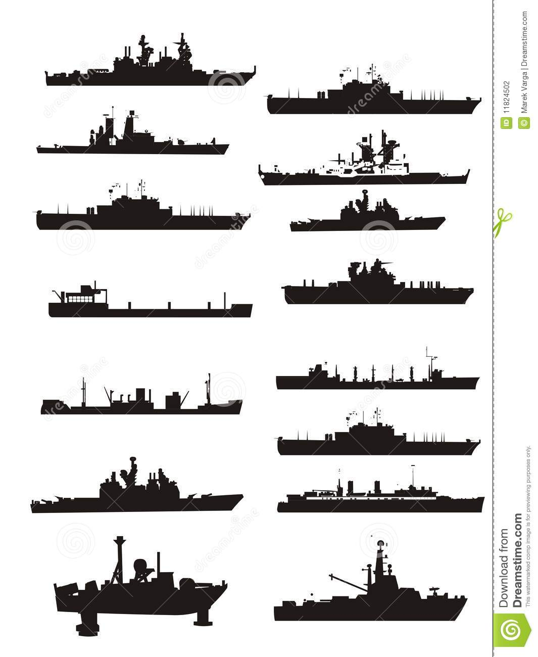 Collection Vector Boat And Ship Outlines Stock Photography   Image