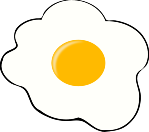Fried Egg Clipart Black And White   Clipart Panda   Free Clipart