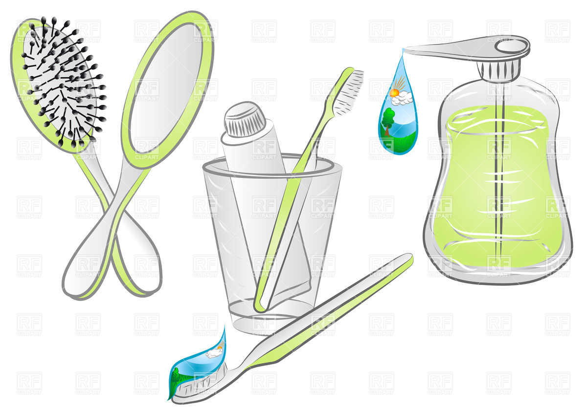 Hygiene Items   Comb Toothbrush And Liquid Soap Download Royalty