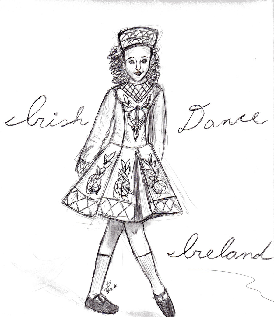 irish step dancing coloring pages - photo#10