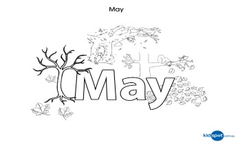 Month of may coloring pages