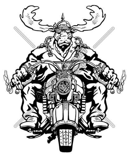 Moose Clipart And Vectorart  Vehicles   Motorcycles Vectorart And
