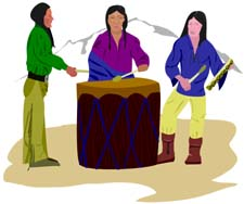 Native American Drummers