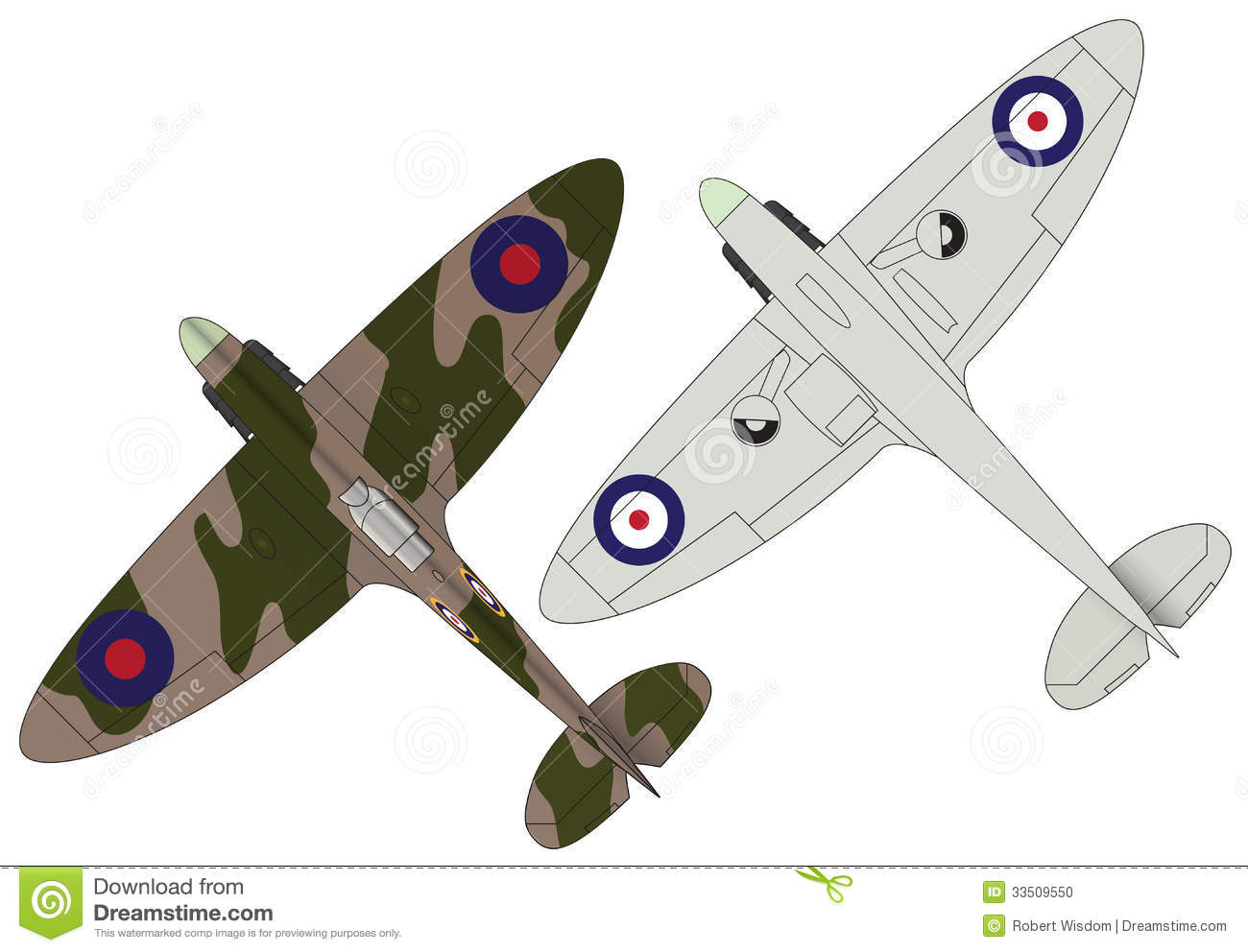 Spitfires Stock Photo   Image  33509550