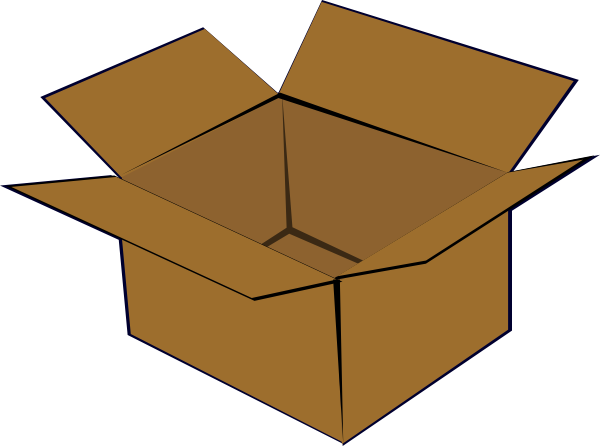 Cardboard Box Clip Art At Clker Com   Vector Clip Art Online Royalty