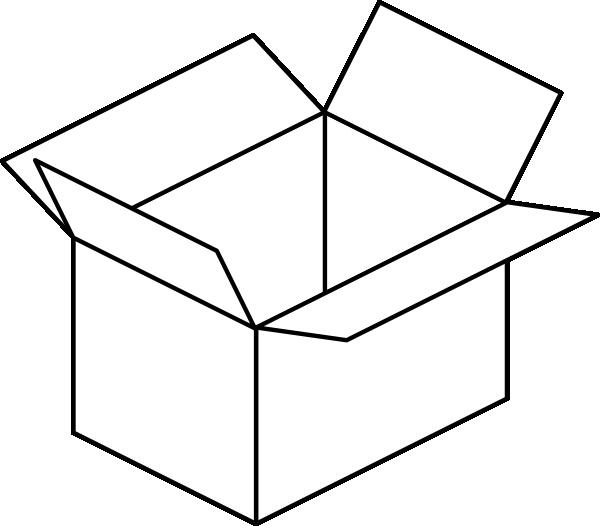 Carton Open Box Clip Art At Clker Com   Vector Clip Art Online