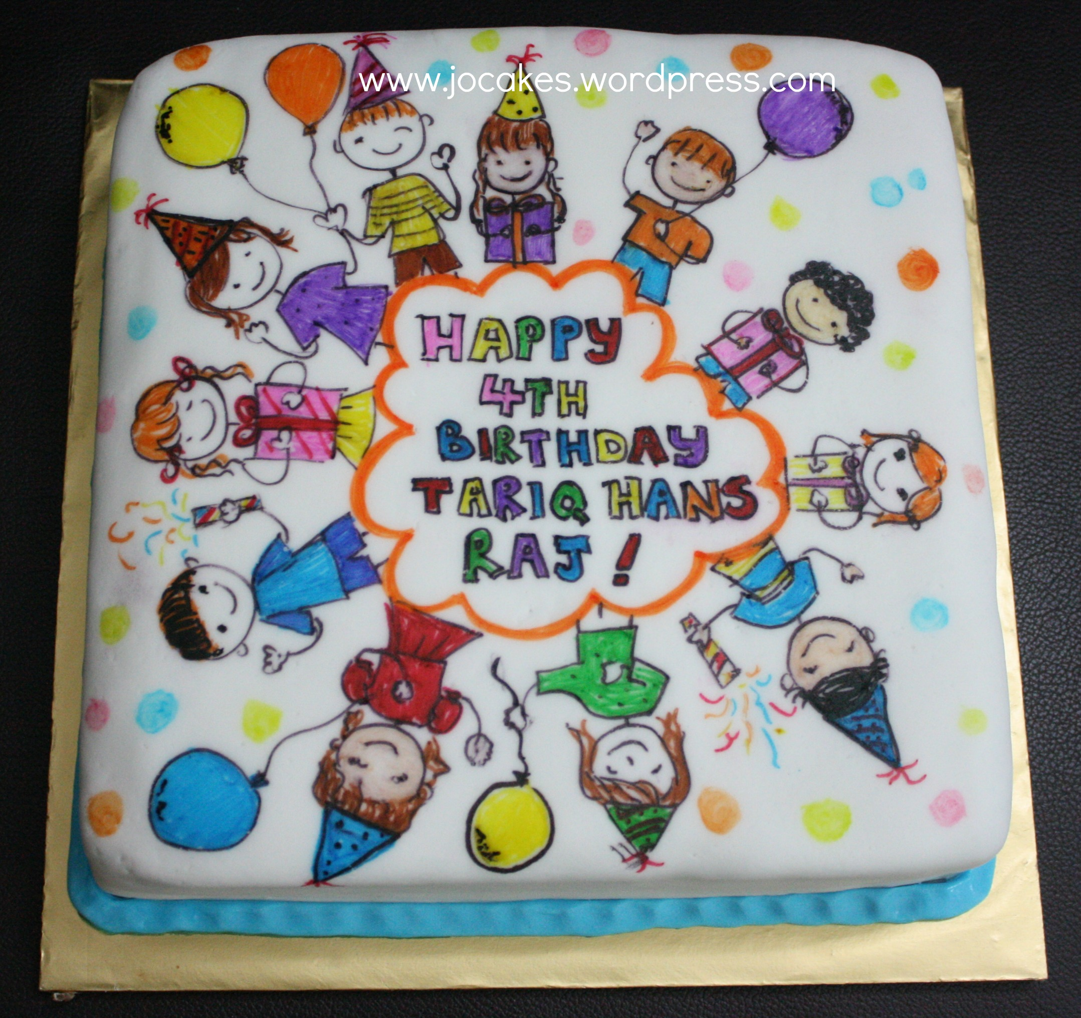 Cartoon Clipart Cake For 4 Year Old Boy    Jocakes