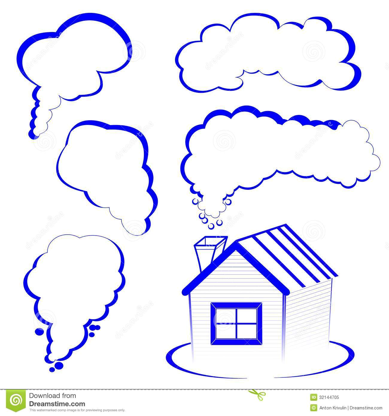 Chimney Smoke Clipart House Logo With A Smoke