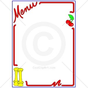 food menu clip art – Clipart Download