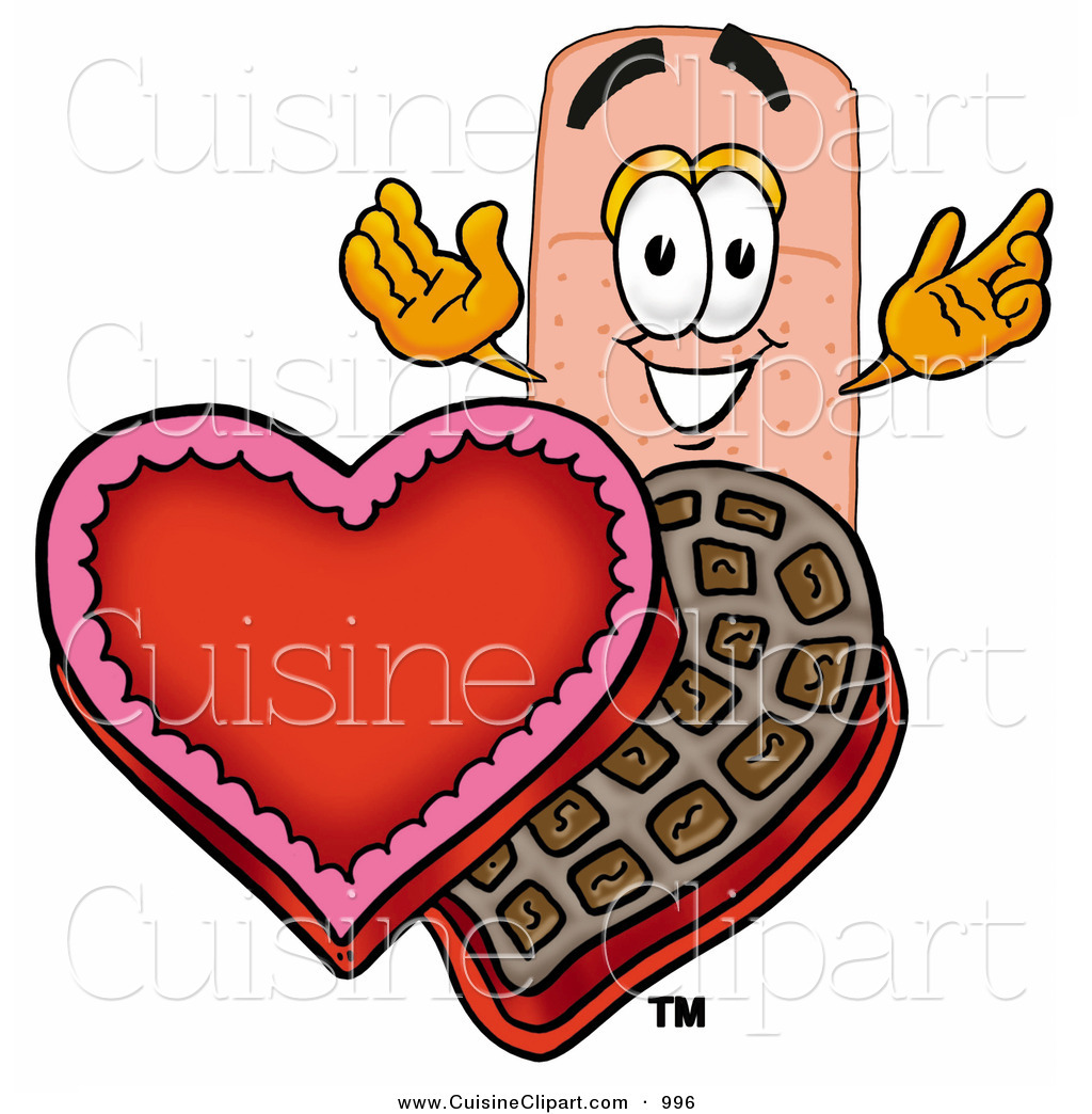 Cuisine Clipart Of An Adhesive Bandaid Bandage Mascot Cartoon
