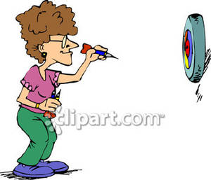 Darts Player Clipart