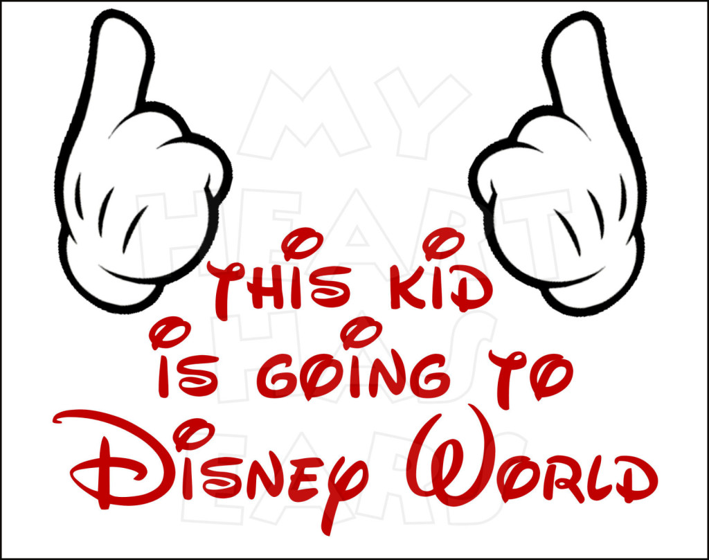 Disney World   Instant Download Digital Clip Art    My Heart Has Ears