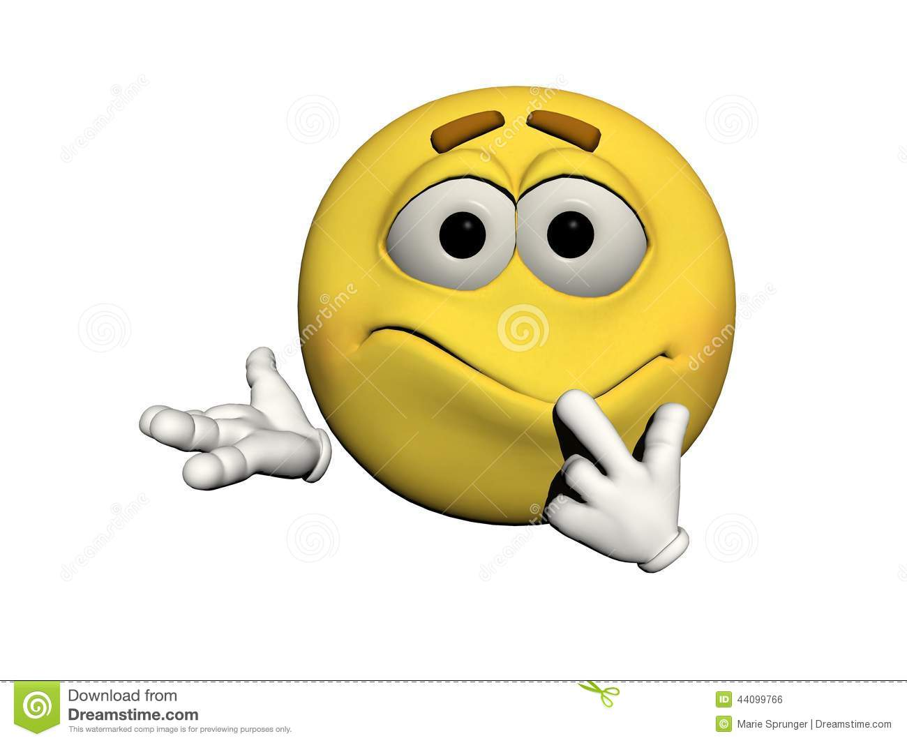 Emoticon Confused Stock Illustration   Image  44099766
