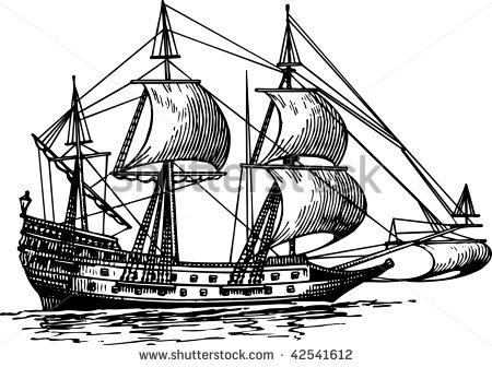 Explorer Ship Clipart Ship   Stock Vector