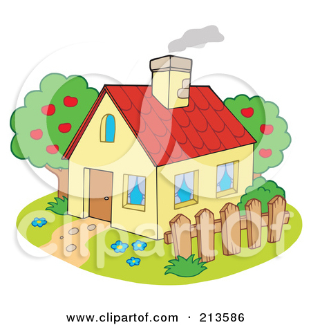 House With Chimney Clipart Royalty Free Clipart Picture