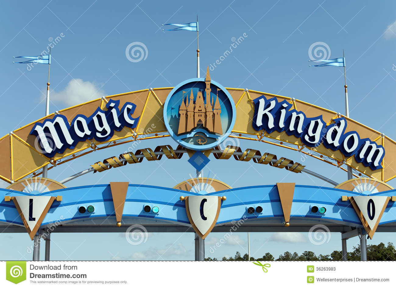 Magic Kingdom Clip Art Magic Kingdom Editorial Stock