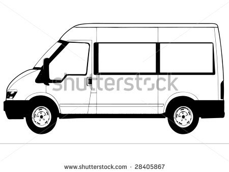 Minivan Clipart Black And White   Clipart Panda   Free Clipart Images