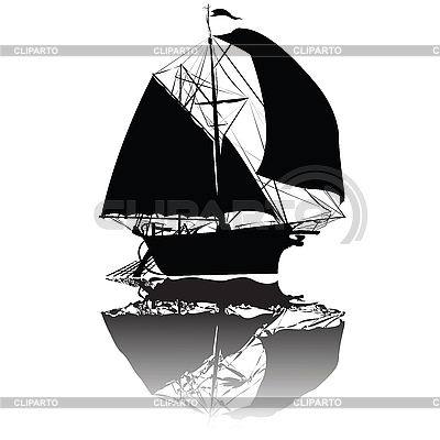 Old Fishing Ship Vector Art     Lirch
