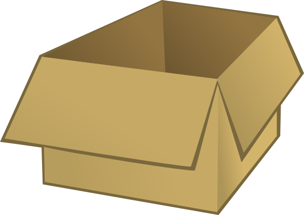 Open Box Clip Art At Clker Com Vector Clip Art Online Royalty Free