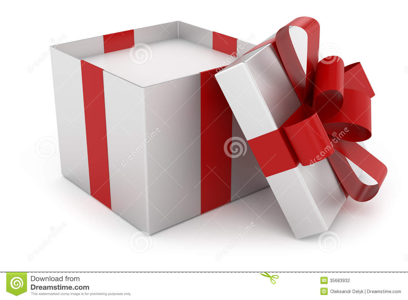 Open Gift Box Clipart Open Cap Of Silver Gift Box