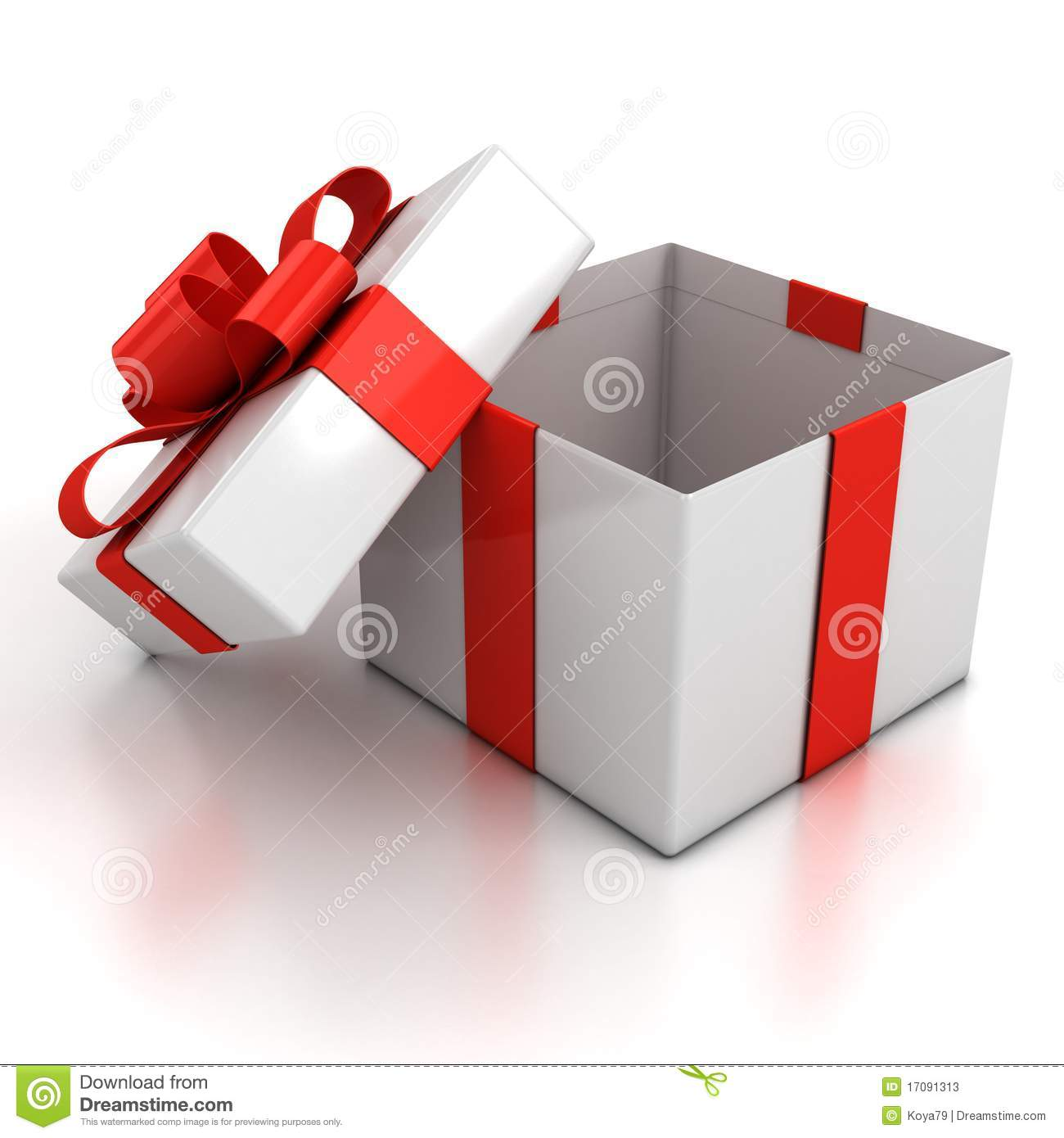 Open Gift Box Over White Background Stock Photos   Image  17091313