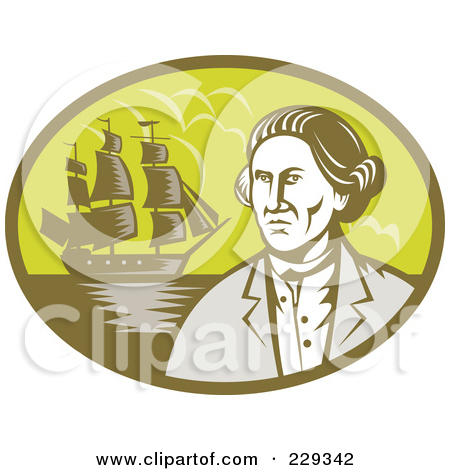 Royalty Free  Rf  Clipart Illustration Of An Explorer And Ship Logo By