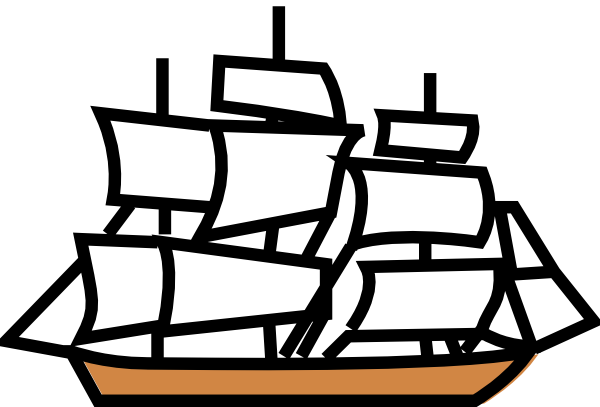 Sailing Ship Clip Art At Clker Com   Vector Clip Art Online Royalty