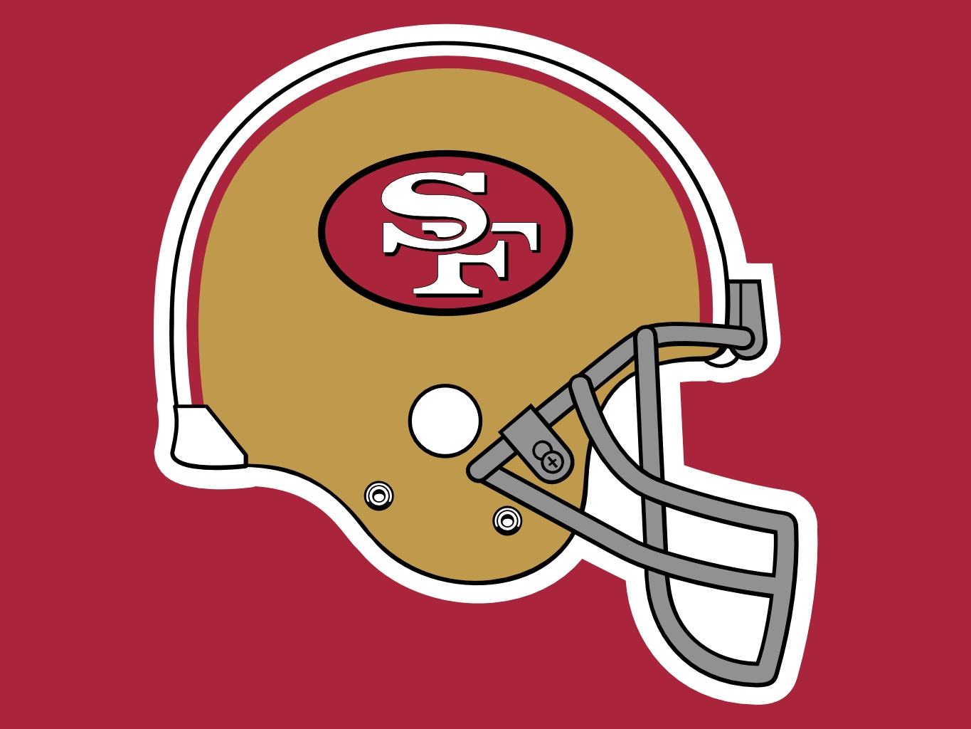 San Francisco 49ers Old Helmut Clipart