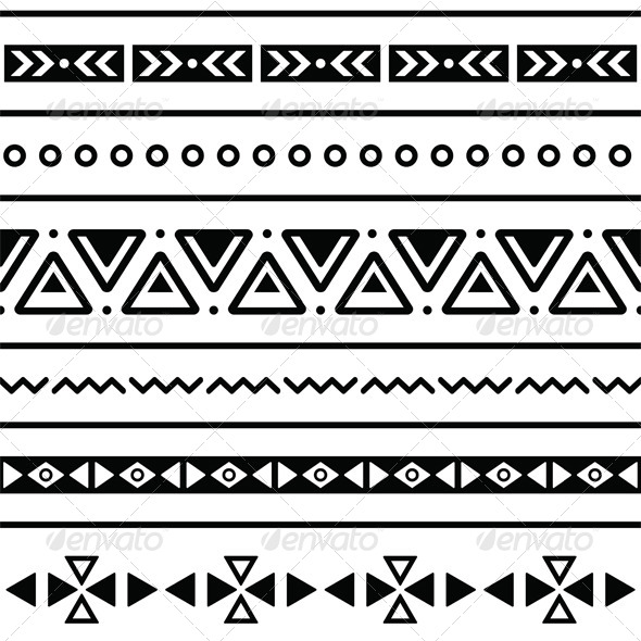 Tribal Print Pattern Black And White Background Images & Pictures ...