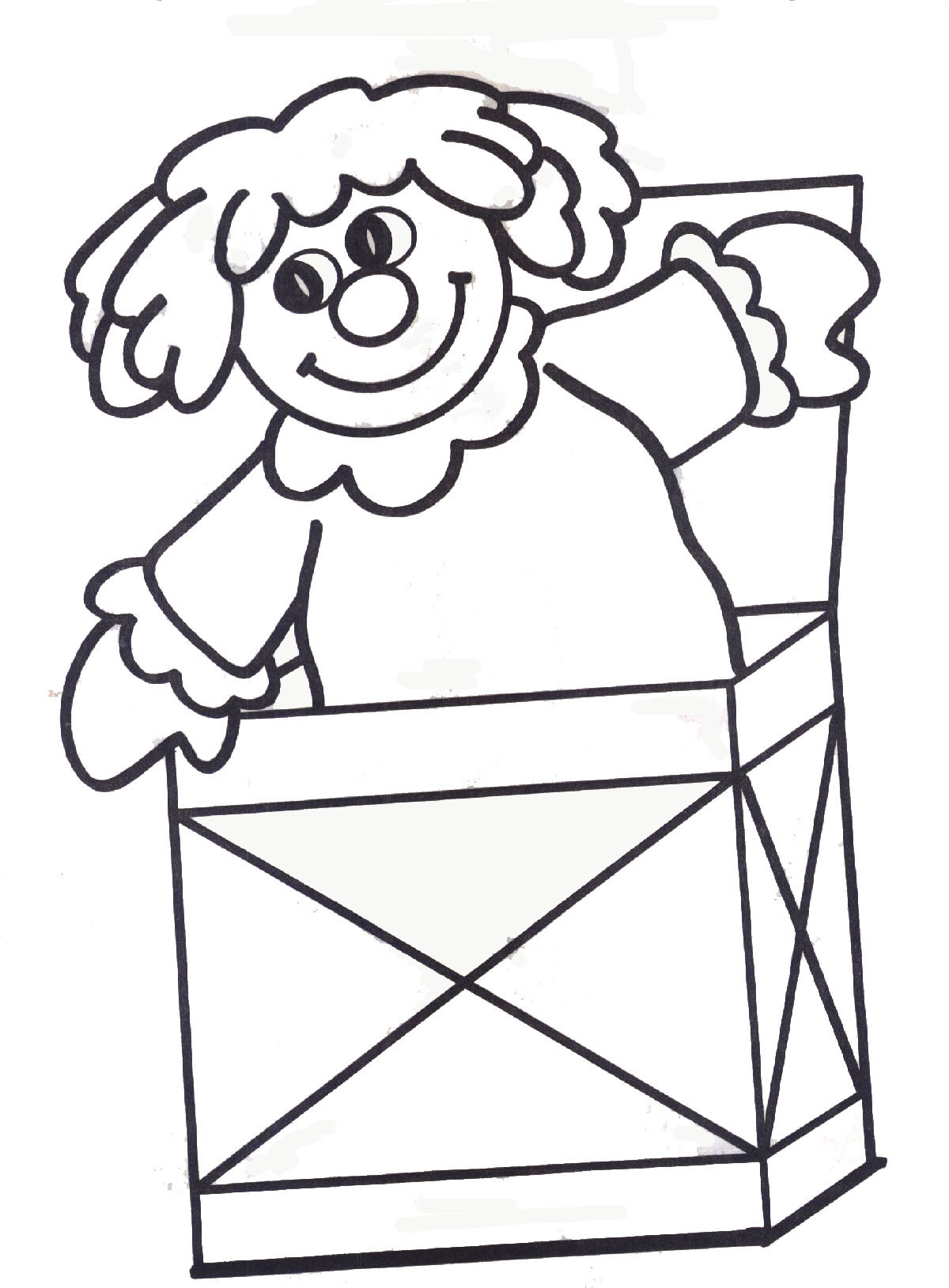 box black and white clipart