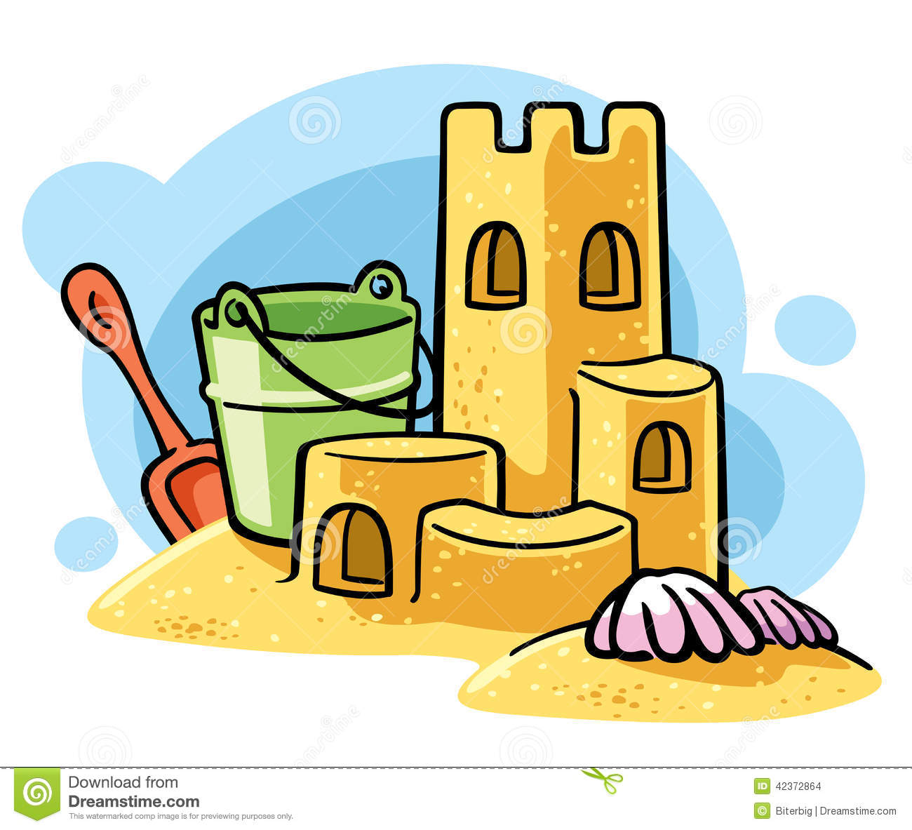 Clip Art Sandcastle Clipart sandcastle clipart kid cartoon sand castle stock vector image 42372864