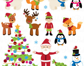 Christmas Animal Clipart - Clipart Kid