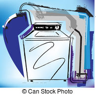 Dryer Or Washing Machine Royalty Free Clipart   Free Clip Art Images