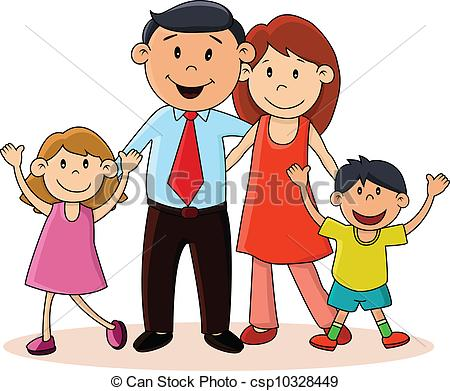 Clip Art Happy Family Clipart happy family clipart kid eps vector of illustration family