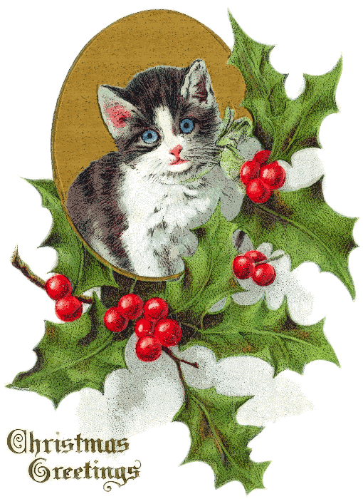 Free Christmas Animal Clipart   Public Domain Christmas Clip Art