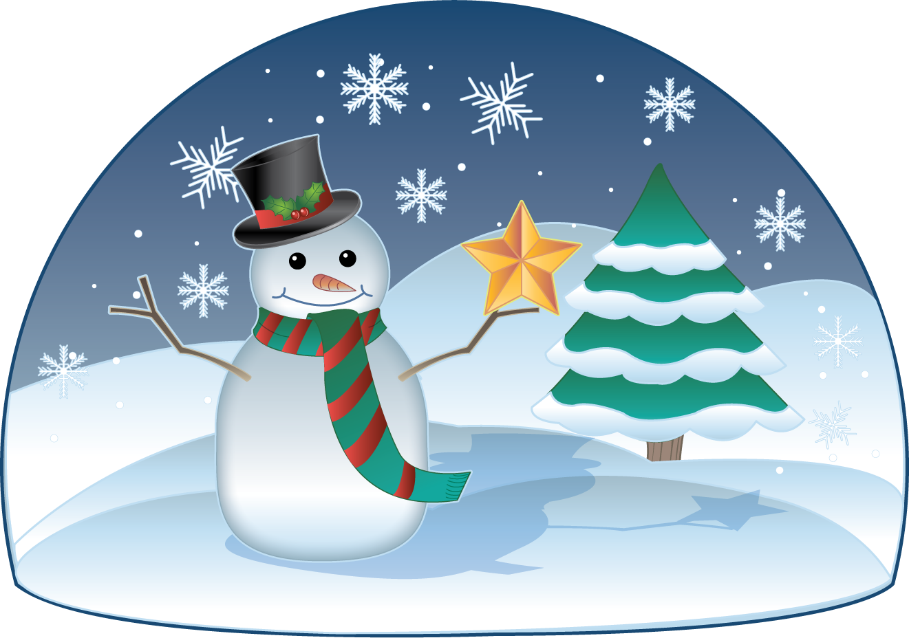 Clip Art Winter Scene Clipart winter scene clipart kid free clip art holiday christmas snowman in winter