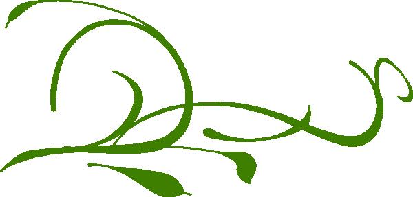 Green Leaves Swirl Clip Art