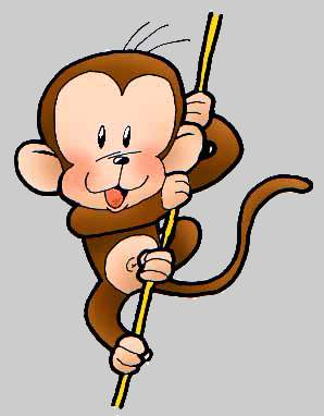 Animated Monkey Clipart - Clipart Kid