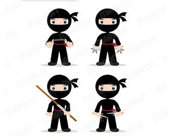 cute girl ninja clipart clipart suggest