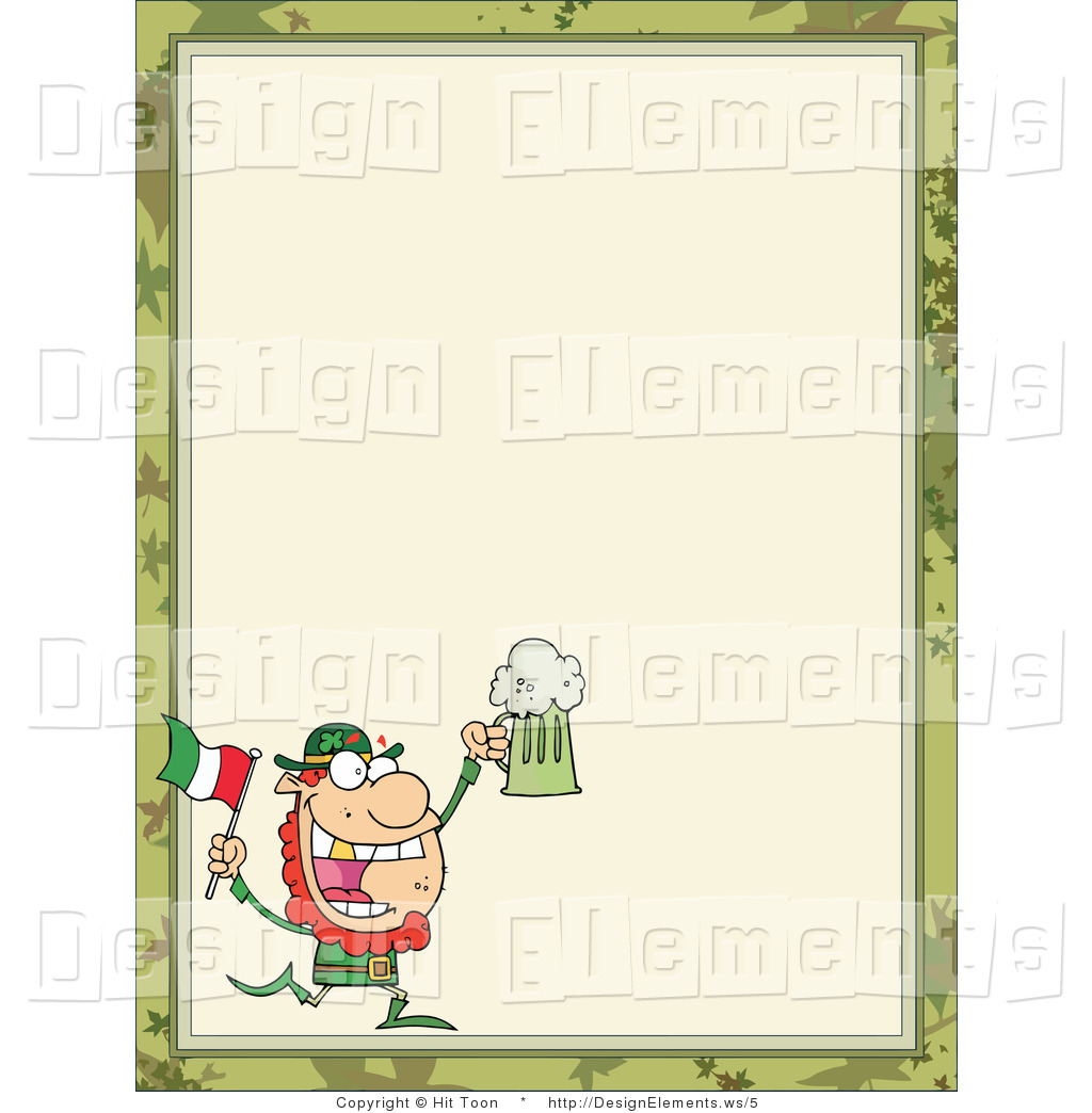 Cake Art Pelham Menu : Leprechaun Border Clipart - Clipart Suggest