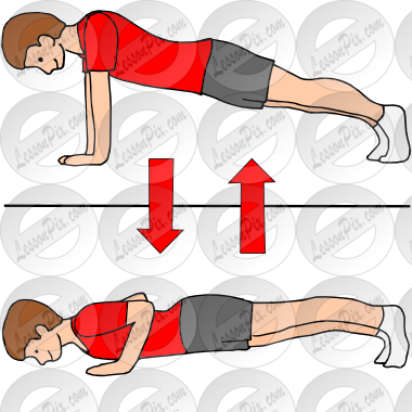 Push Up Picture For Classroom   Therapy Use   Great Push Up Clipart