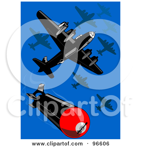 Royalty Free  Rf  Clipart Illustration Of A 3d Ww2 Bomb   2 By