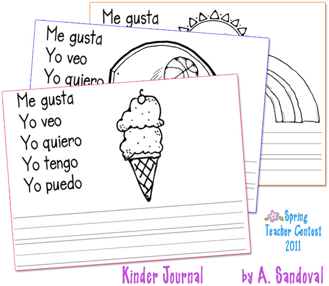 This Cute   Creative Spanish  Kinder Journal  Was Made By A  Sandoval