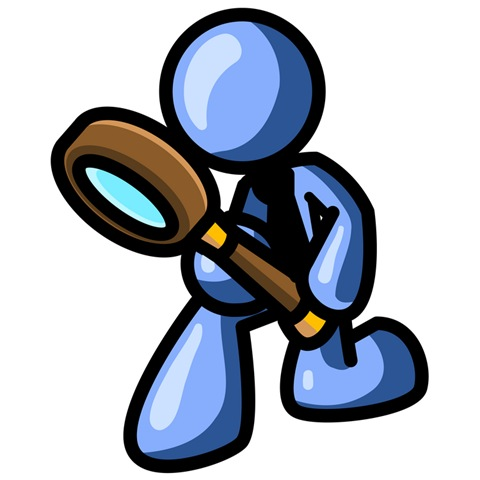 To Inspect Something Through A Magnifying Glass Clipart Illustration
