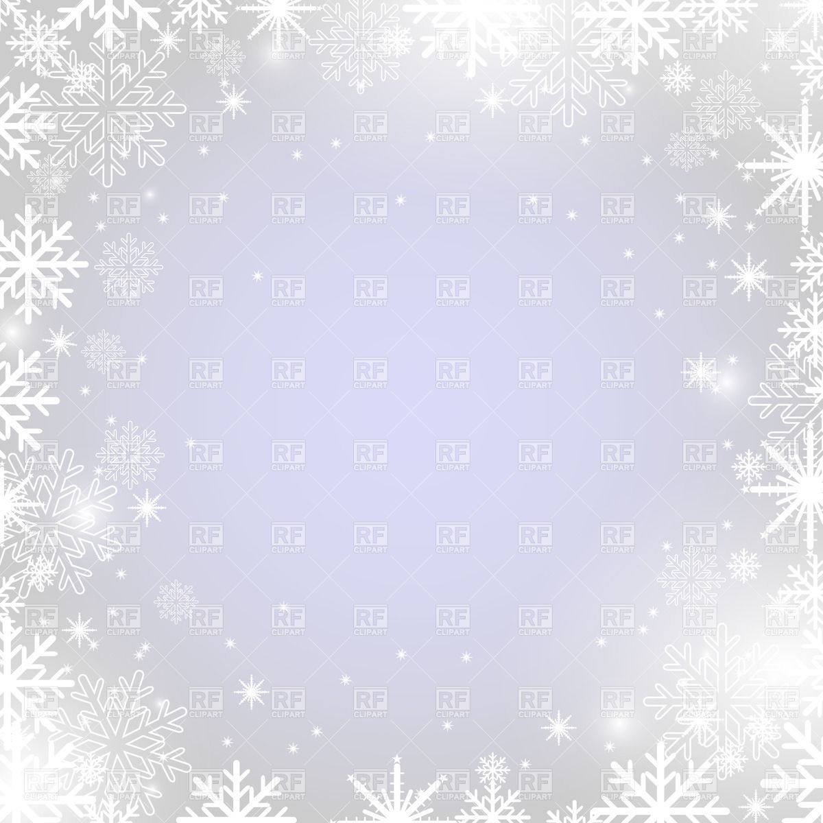 Winter Frame With Snowflakes 22317 Holiday Download Royalty Free
